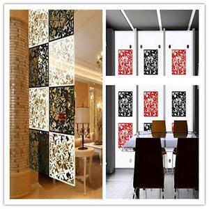 1pcs Hanging Screen Partition Room Divider Butterfly Flower Wall Home Sticker RS