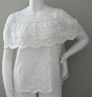 Zenobia Tiered Lace Off The Shoulder Tube Top Blouse White Plus Xl 2xl 3xl