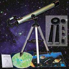 Mega SET COMPLETO Refraktor telescopico 60/900 Stargazer carte Barlow Lente tk1