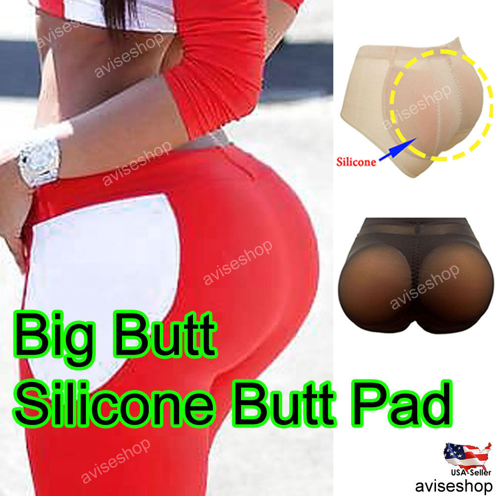 842892a3aea 100% Silicone Padded Butt and Hip Enhancer BOOTY Pads Panties Push Up  Removable