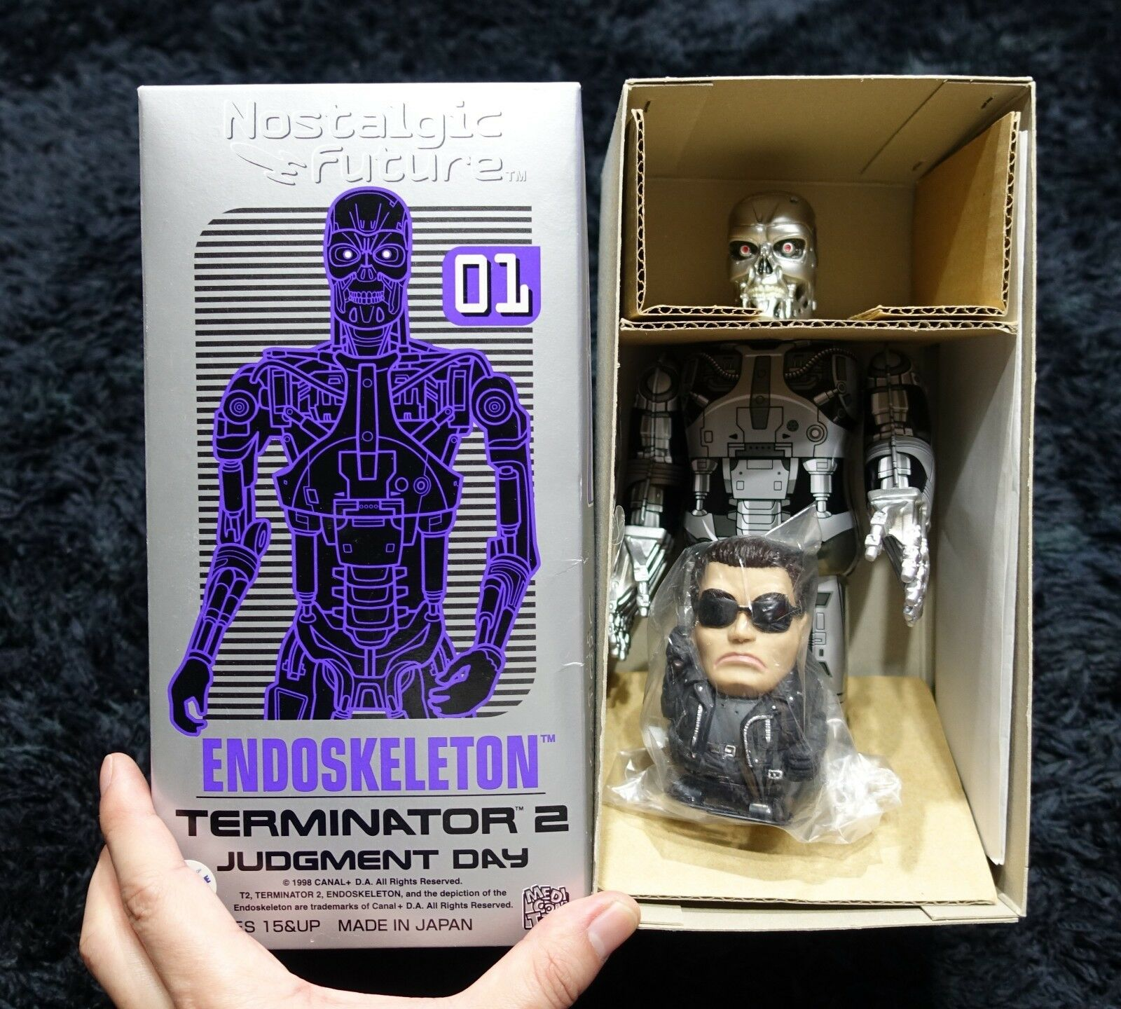 TERMINATOR 2 ENDOSKELETON TIN TOY MEDICOM TOY