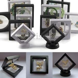 2-Size-Square-3D-Albums-Floating-Frame-Holder-Coin-Box-Jewelry-Display-Show