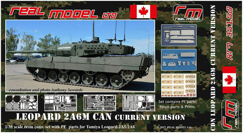 Canadian Leopard 2A6M CAN current version 1 35 Real Model resin RM35158 Tamiya
