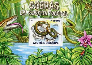 Image Is Loading Sao Tome Amp Principe 2017 Mnh Snakes Tropical