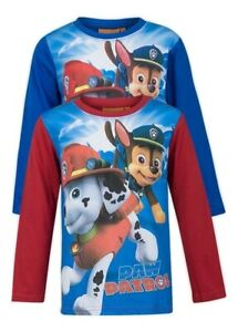 Paw-Patrol-Boys-Long-Sleeve-T-Shirt-Red-amp-Blue-Ages-3-5-6-Years
