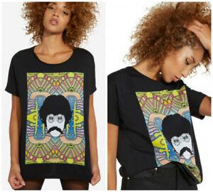 Wrangler-X-Peter-Max-T-shirt-Tee-Camisetas-Negro-034-astro-034-Top-Pop-Art-XS-S-M-L