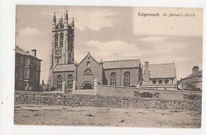 Teignmouth-St-Michaels-Church-Vintage-Postcard-300a