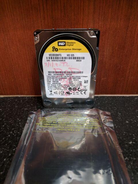 """Tested Western Digital WD3000BKFG 300GB 10K SAS 2.5/"""" Hard Drives HDD"""