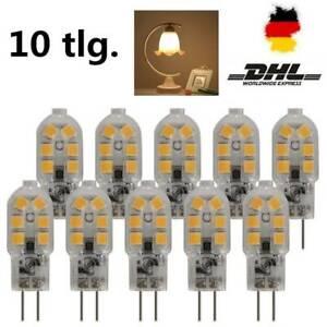 10tlg Mini LED Energiespar Lampe G4 3W//5W AC DC 12V COB Licht Birne Leuchtmittel