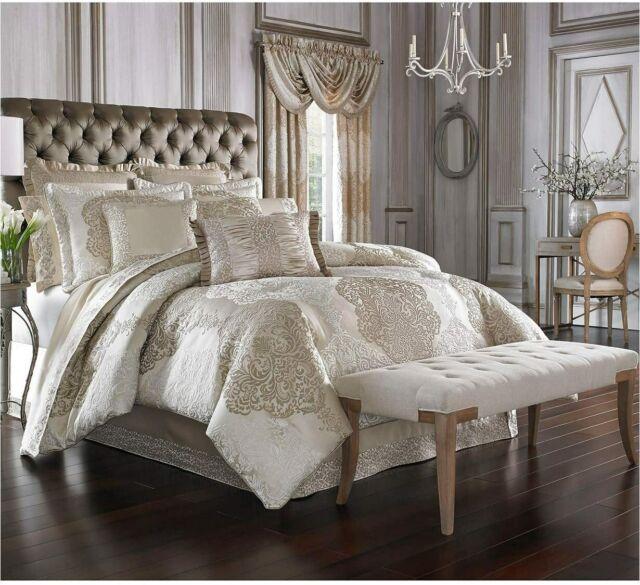 4 Piece California King Comforter Set, J Queen New York Bedding Lauralynn