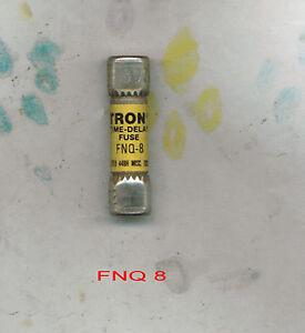 Nice Lot Bussmann Tron FNQ 8 Amp Fuses Time Delay 500 Volts