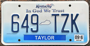 AUTHENTIC-USA-2006-KENTUCKY-LICENSE-PLATE-JEFFERSON-COUNTY-IN-GOD-WE-TRUST