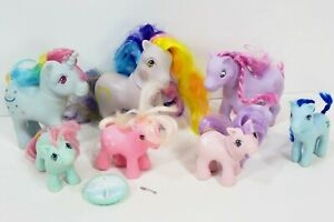 VTG-My-Little-Pony-G1-Lot-Beddy-Bye-Rainbow-Princess-Ponies-1980-039-s-Vintage-MLP