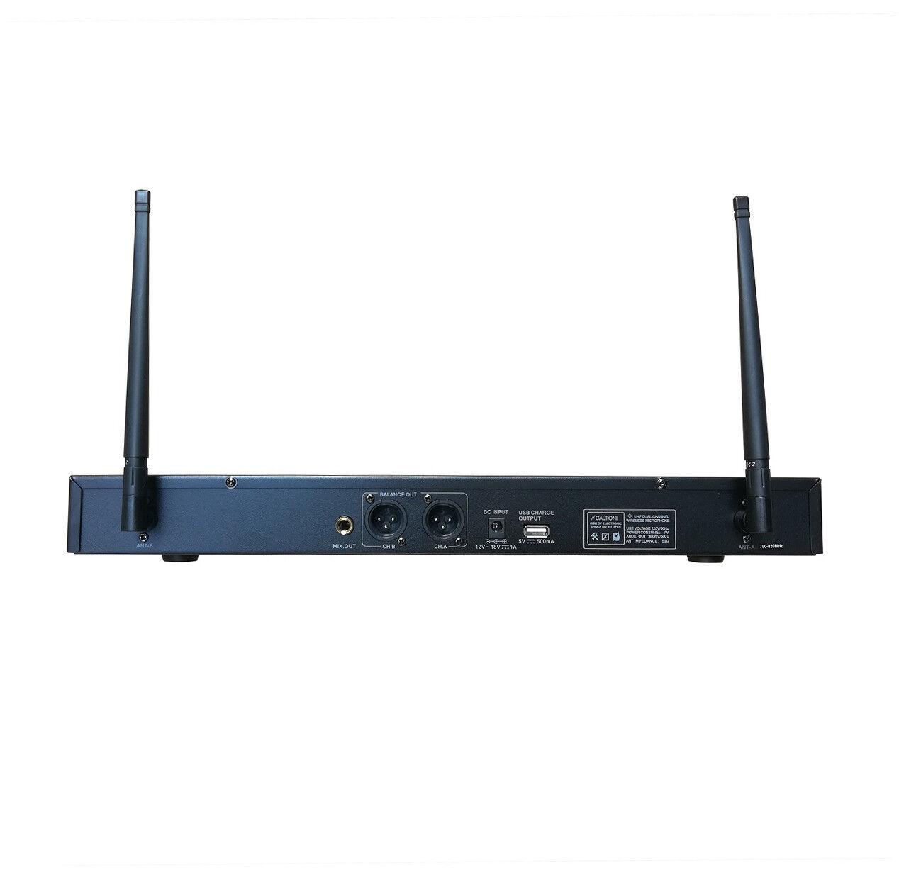 Sistema de micrófono micrófono micrófono inalámbrico UHF recargable para la presentación de Karaoke 2 de mano 4d79d1