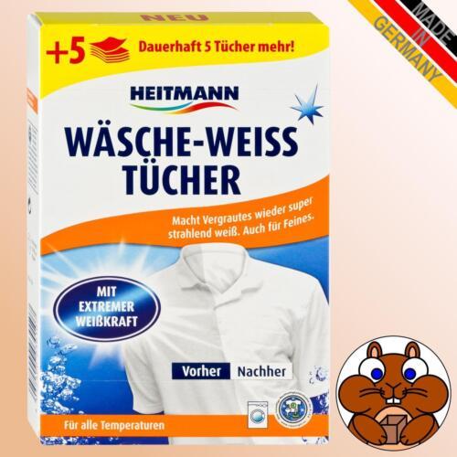 3x HEITMANN Wäsche-Weiss Tücher à 20 = 80 Stück Waschadditiv Wäsche Weiß Tücher