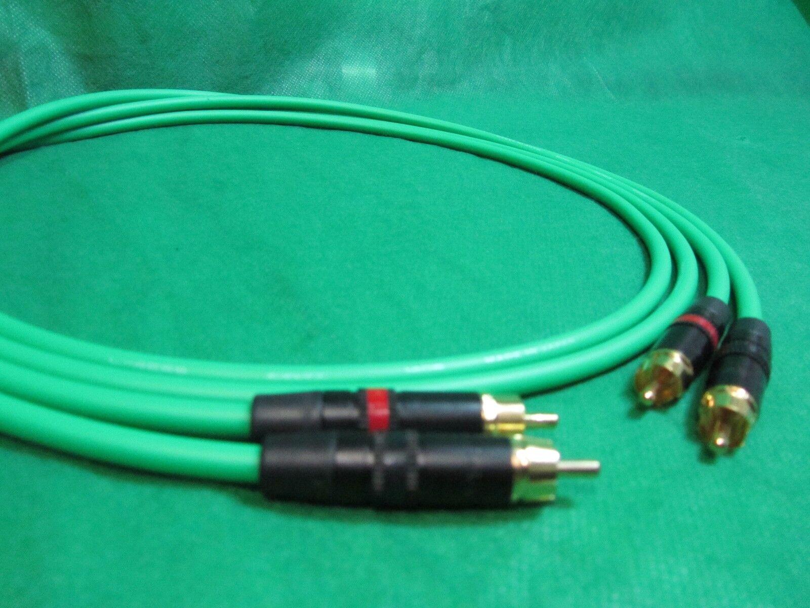 25 ft Par Canare l4e6s l4e6s l4e6s verde Star Quad Rca A Rca Audio Hi-fi Cable. 966e2a
