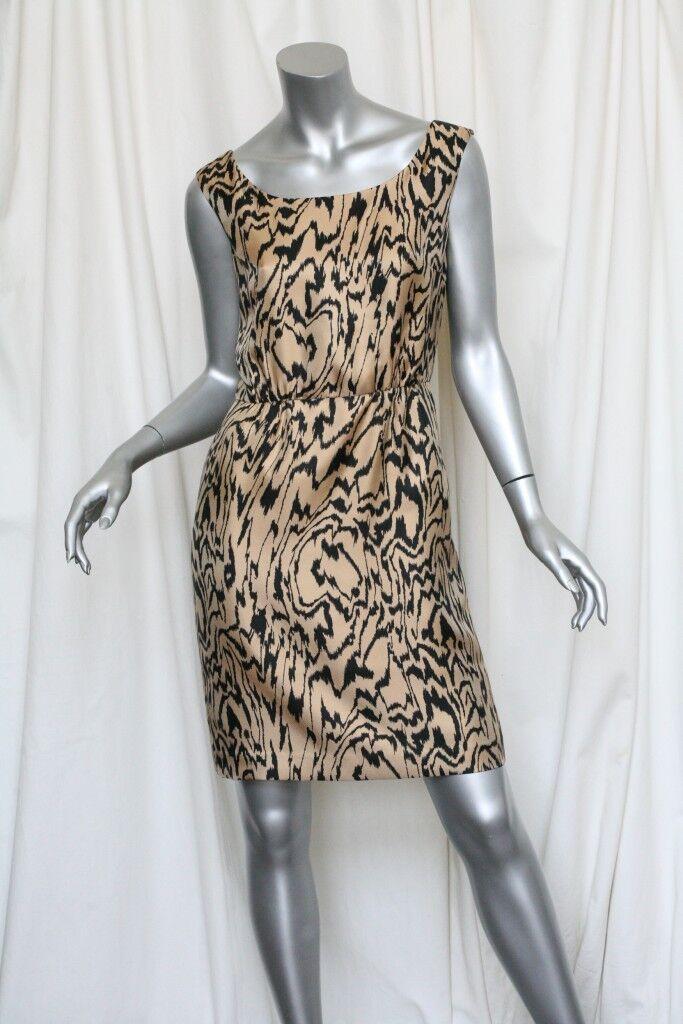 Temperley Tigre Seda Sarga Freeda Vestido Recto  Nuevo Us   4  marcas de diseñadores baratos