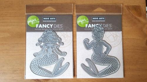 Paper Layering Mermaid with Frame OR Merman DI373 DI374 Hero Arts Fancy Dies