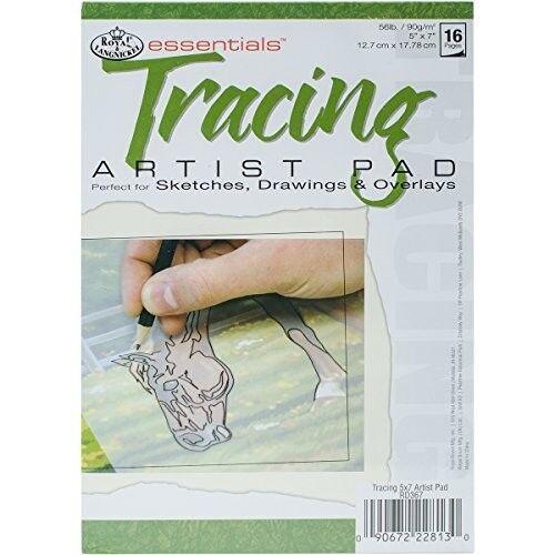 Essentials Tracing Artist Paper Pad 5X7-16 Sheets