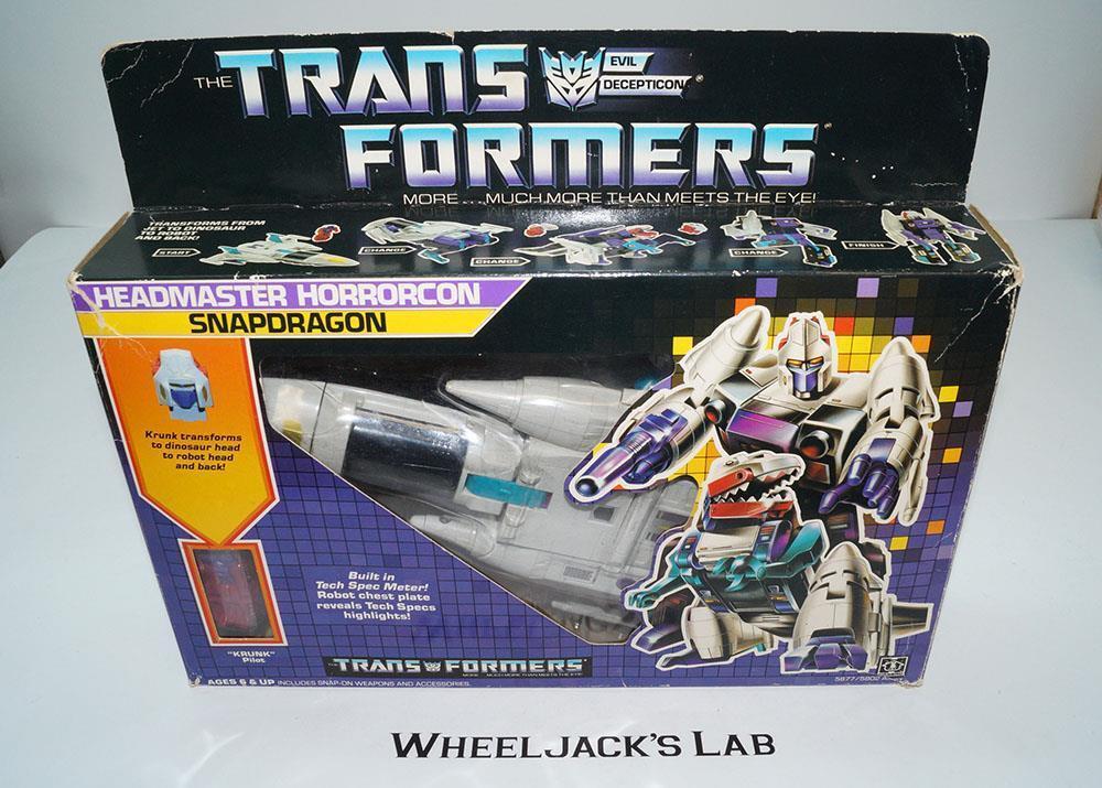 Snapdragon MIB 100% Complete 1987 Vintage Hasbro Action Figure G1 Transformers