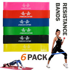 4pcs Resistance Exercise Band Home Gym Stretch Yoga Physio Glute Leg Arm Fitness