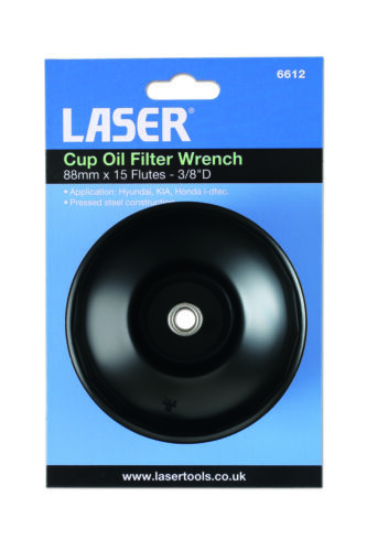 Fuel Filter Wrench 88Mm X 15 Flats Laser 6612