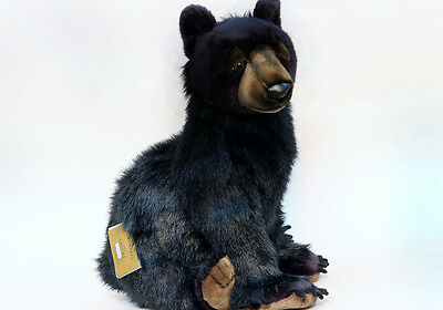 Hansa Toys Black Bear Cub 5056 Plush Stuffed Animal Toy Gift Decor Cabin New