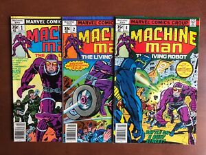 Machine-Man-1-2-4-1978-VF-Marvel-Key-Issue-Bronze-Age-Stan-Lee-Comic-Book