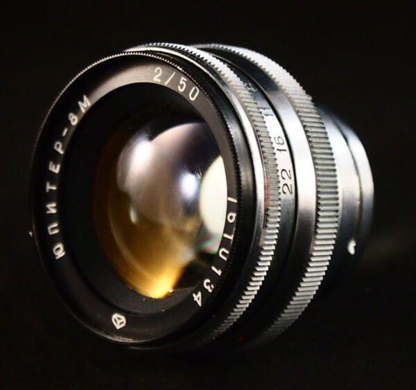 Diplomatique Soviet Lens Jupiter - 8 M (2/50.) Mount Contax. Pour Kiev 2, 3, 4. Urss. Bonne Lentille