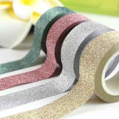 Adhesive Sticky Craft Glitter Paper Tape Useful Decorative 5M Pretty TOOL FT06
