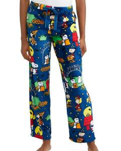 Peanuts-Minky-Fleece-Lounge-PJ-Pant-Snoopy-Charlie-Brown-Great-Pumpkin-Halloween