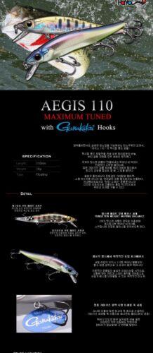 Payo Aegis Oneten 110F MACTUNE Minnow fishing lure crankbait SeaBass NEW!