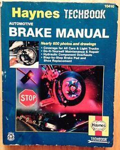 automotive brake repair manual haynes techbook car light truck rh ebay com Haynes Manual Pictures Back Haynes Manual for Quads