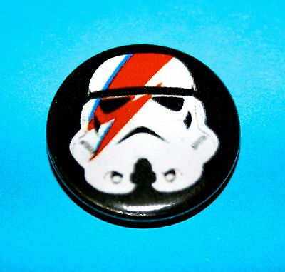DAVID BOWIE STORM TROUPER ALADDIN SANE ZIGGY STARDUST INSPIRED BUTTON PIN BADGE