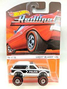 Chevy Blazer 2015 >> Details About Hot Wheels 2015 Redline Chevy Blazer 4x4 White Police Graphics 14 Of 18 Nip