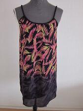 Neue Bon A Parte Träger-Kleid Leicht Transparent Gr.40 Marine/Pink NEU/OVP