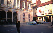 KODACHROME 35mm Slide England Windsor Castle Three Tuns Hotel Pub Old Cars 1971!