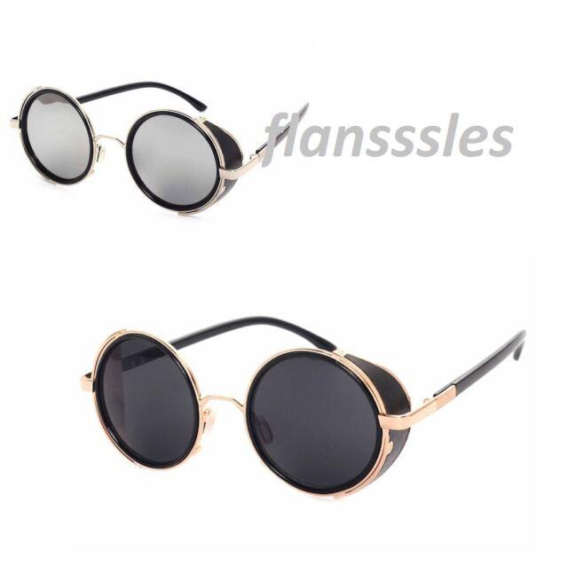 73ca9da0457a Mens -Ladie Steampunk Sunglasses 50s Round Glasses Cyber Goggles Vintage  Style