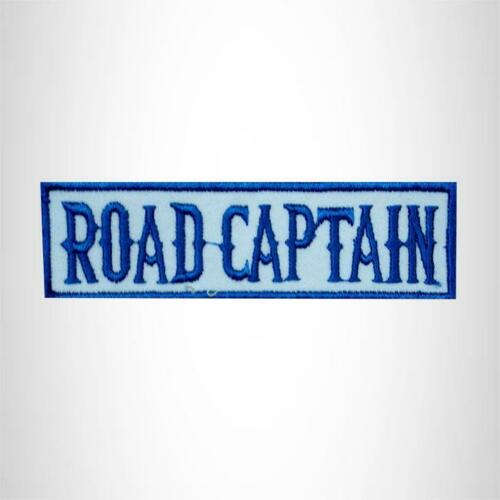ROAD CAPTAIN Blue on White Small Patch for Vest jacket SB452