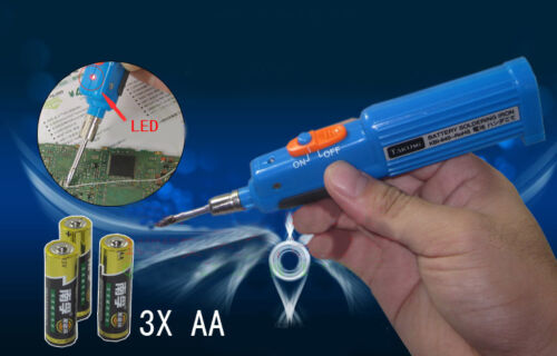 8W Battery Powered Soldering Iron with Solder Cordless Portable Electronics Lapt