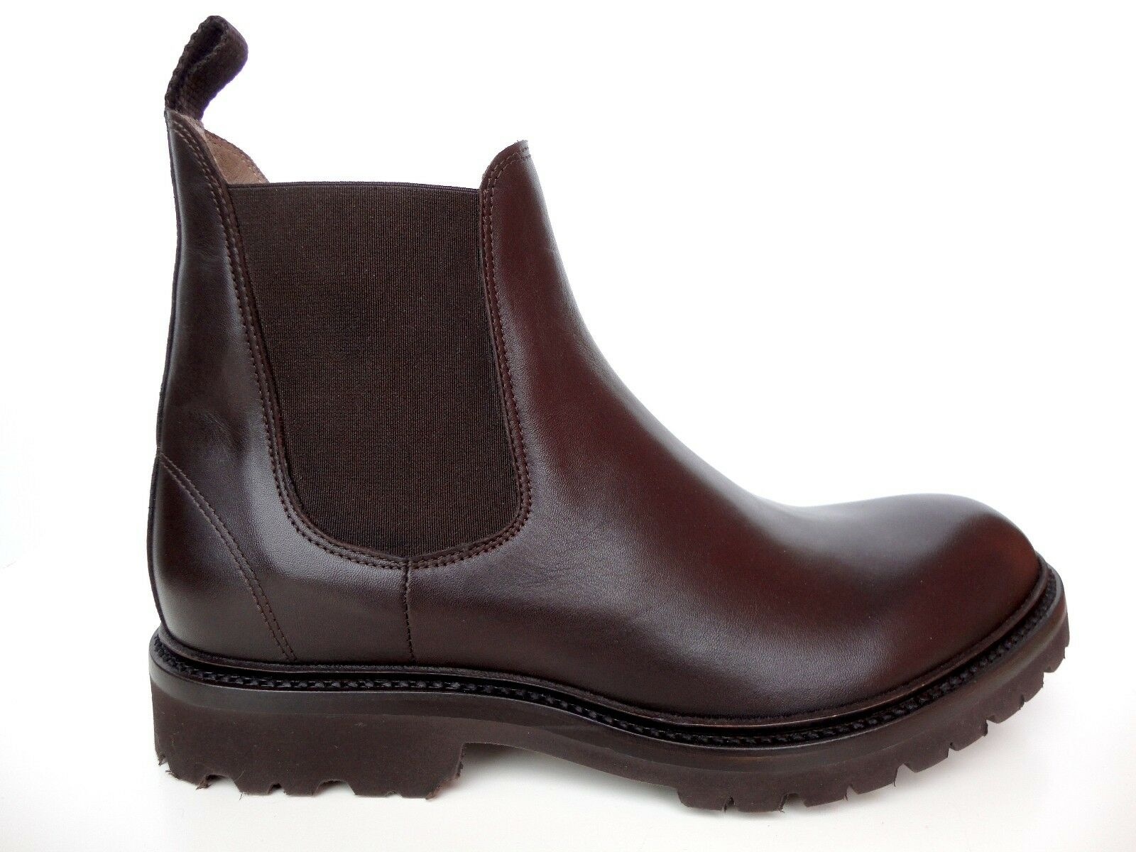 MADE TO ORDER ITALY SHOES BOOTS BEATLE REAL LEATHER RUBBER SOLE BROWN 7-21 40-56