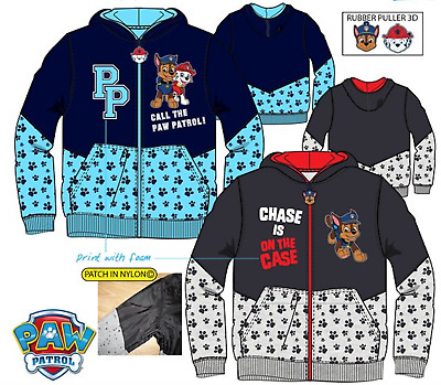 Boys Paw Patrol Chase Hoodie Jumper Sweatshirt Top Warm Hood Popular age 3-7Yrs