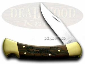 Buck 110 Faltbar Hunter Messer Skorpion Ebenholz Holz 1/400 420HC Edel Taschen
