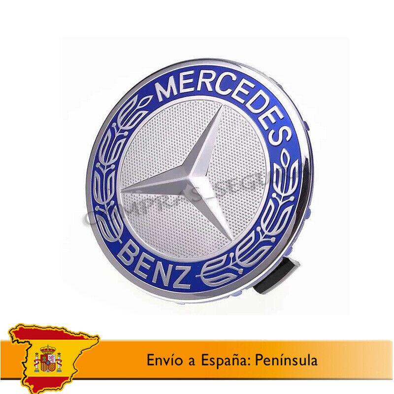 Clase A B C E CLK GL M ML SLK UG/® para Llantas de aleaci/ón EOM: A170 400 00 25 Negro 4 Tapas para tapacubos de 75 mm con Logotipo de Mercedes