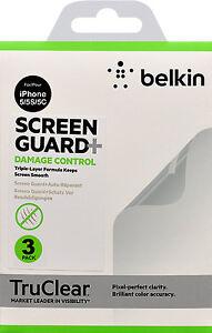 Belkin TruClear Screen Guard Protector beschädigt Kontrolle für iPhone 5 5S 5C 3 Pack