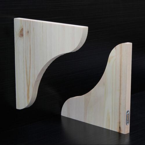 Regalkonsolen Regalträger aus astreiner Kiefer 2 Stück 240x240x18mm