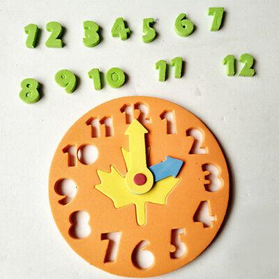 1x enfants DIY horloge apprentissage de l'éducation jouets Jigsaw Puzzle Game tr