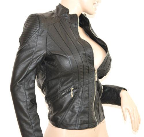 Jacket Pelle Giubbino Argento Giacchino Donna Cuoio Nero Avvitato H40 Giacca Zip pBzgB