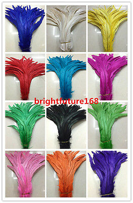 Wholesale 10/20/50/100pcs 35-40 cm /14-16 inches rooster tail feathers 12 color