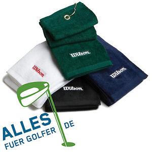 Wilson-Golf-Schlaegerhandtuch-hochwertiges-Baumwoll-Velours-drei-Farben-verfuegbar